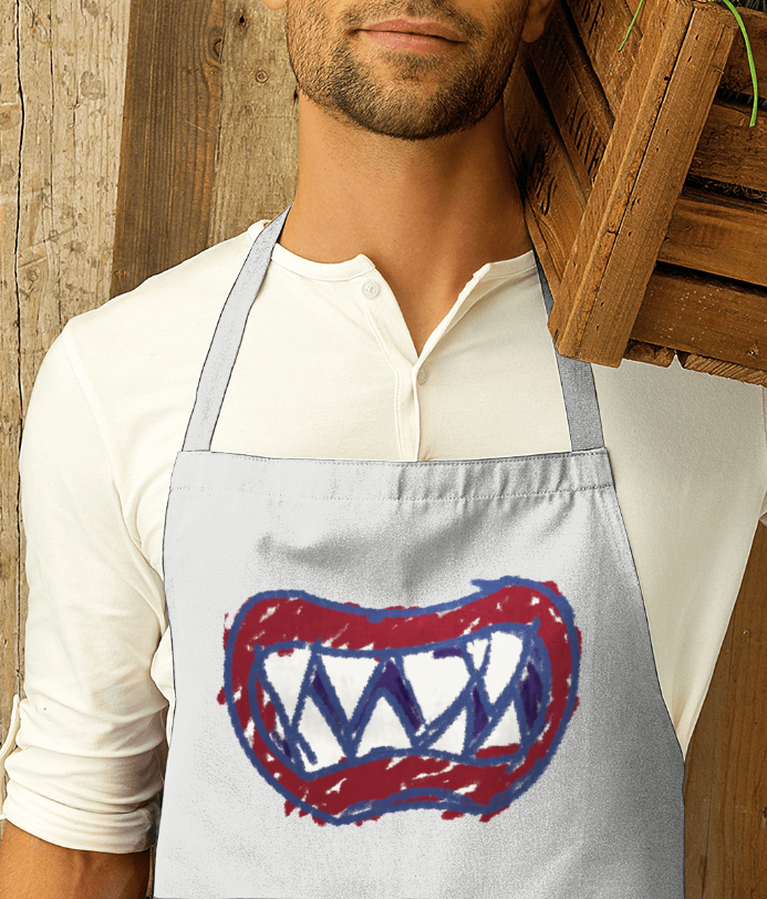 Premier Cotton Apron Bowser Junior Bib smile Super Mario Design